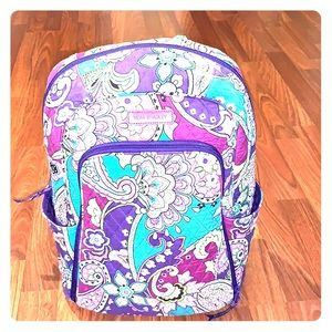 Vera Bradley purple floral and paisley backpack